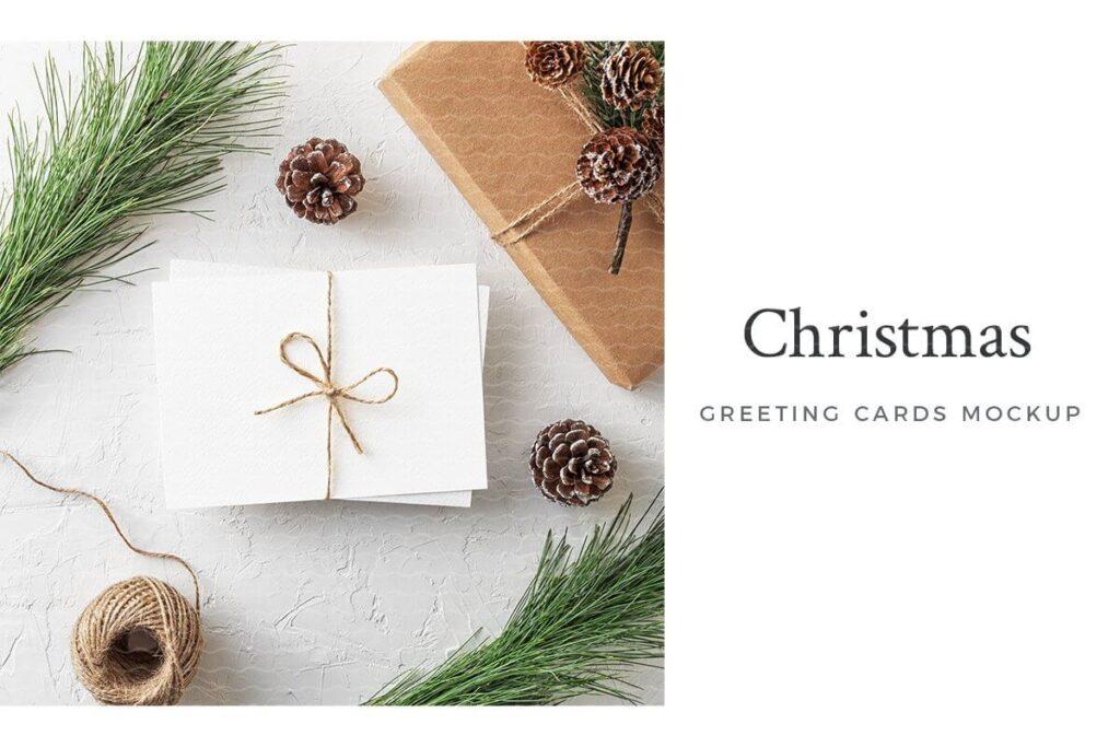 Christmas Greeting Card Mockup (1)