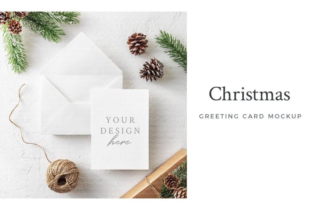 Christmas Greeting Card Mockup (2)