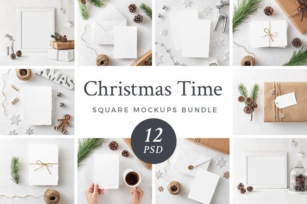 Christmas Mockups Bundle SAVE 70% (1)