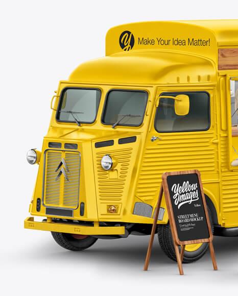 Citroen Hy Van Food Truck Mockup - Half Side View (1)