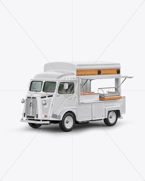 Citroen Hy Van Food Truck Mockup - Half Side View (2)