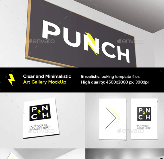 Clear and Minimalistic Art Gallery MockUp