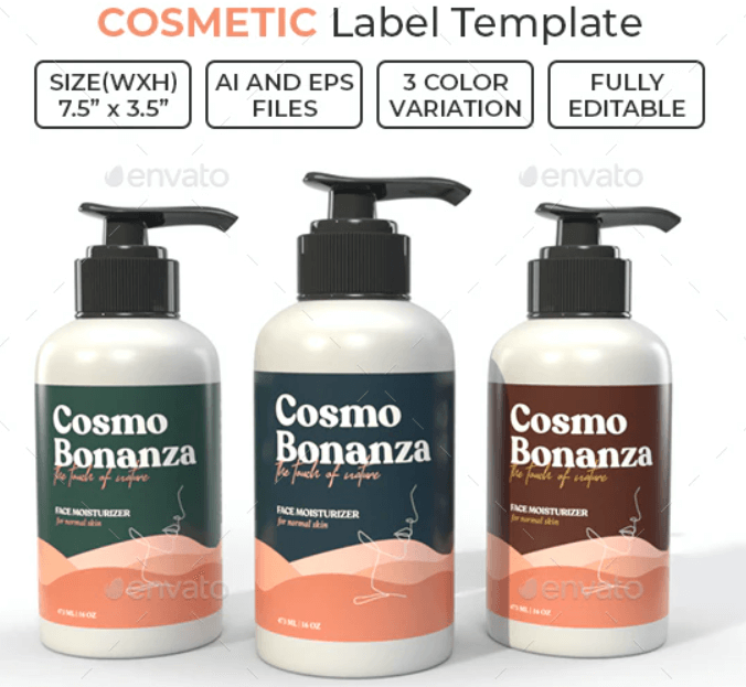 Cosmetic Label Template