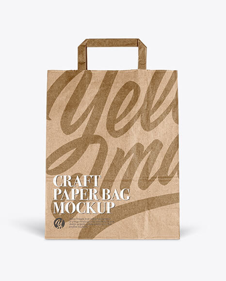 Craft Paper Bag - Front View (1)