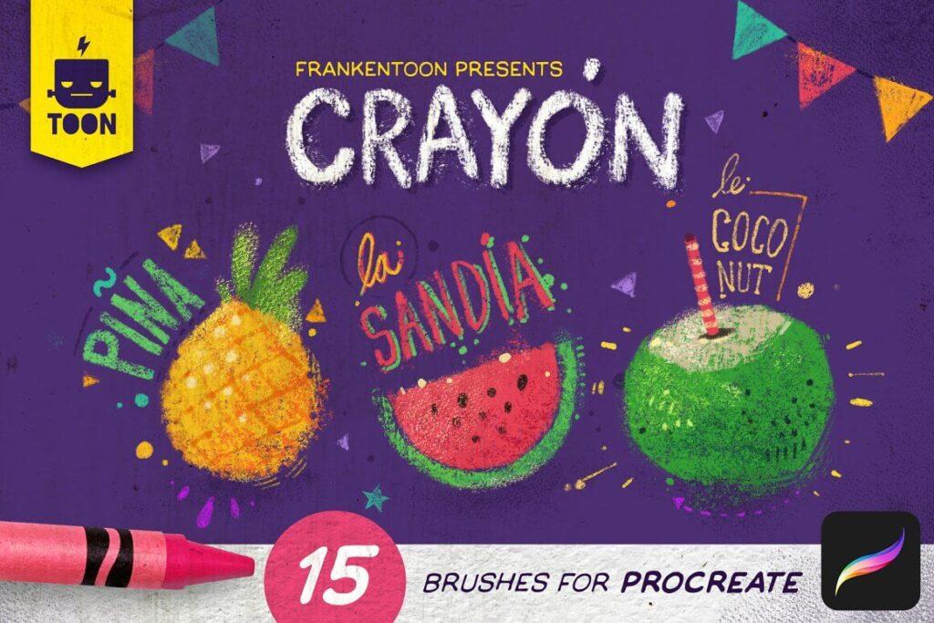 Crayon - Procreate Brush Pack (1)