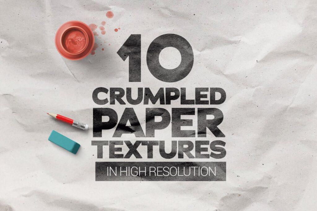 Crumpled Paper Textures x10