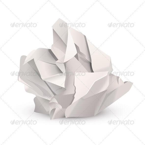 Crumpled paper ball (1)