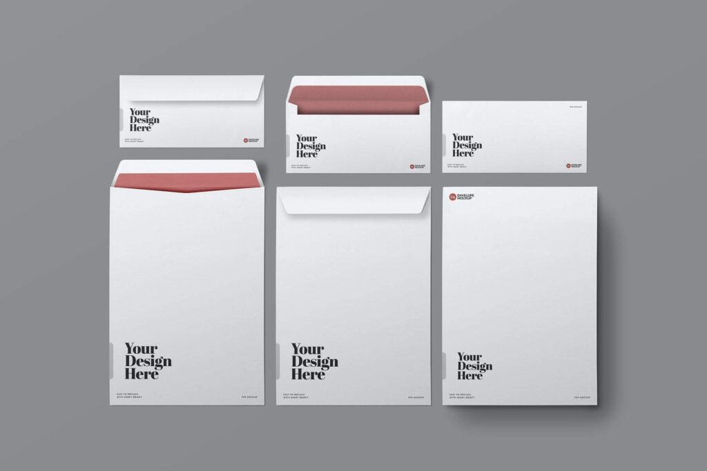 DL & C4 Envelopes Mockup (1)