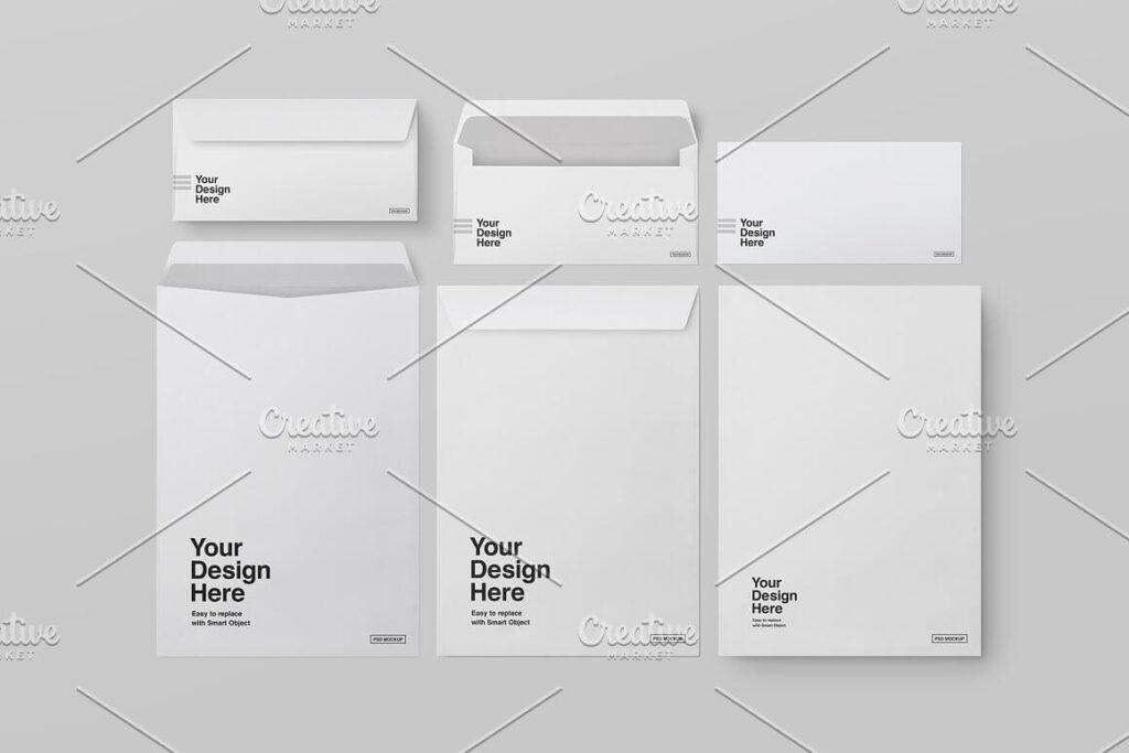 DL and C4 Envelopes Mockup (1)