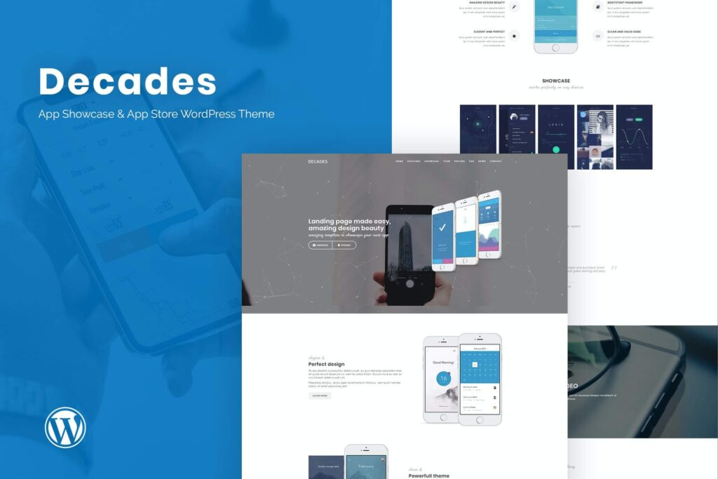 Decades - App Showcase & App Store WordPress Theme (1)