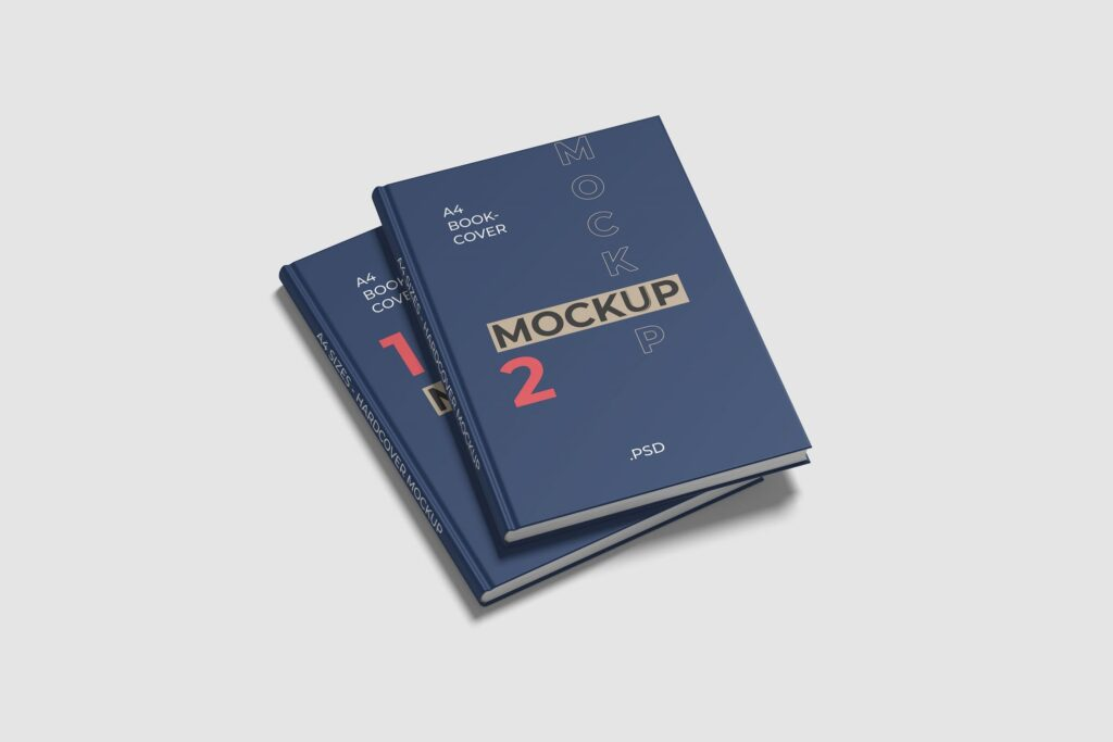 Double Hard Cover A4 Book Mockup (1)