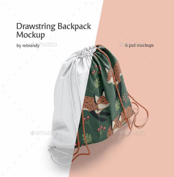 Drawstring Backpack Mockup (1)
