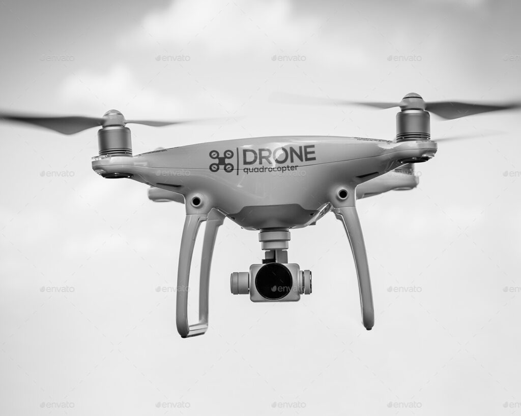 Drone Logo Mock-Up - Present Your Logo directly on the quadcopter (1)