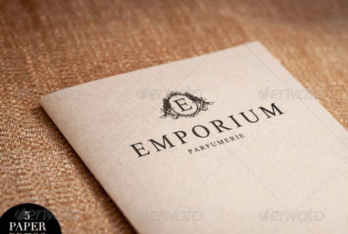 Elegant Paper-press Logo Presentation Mock-up