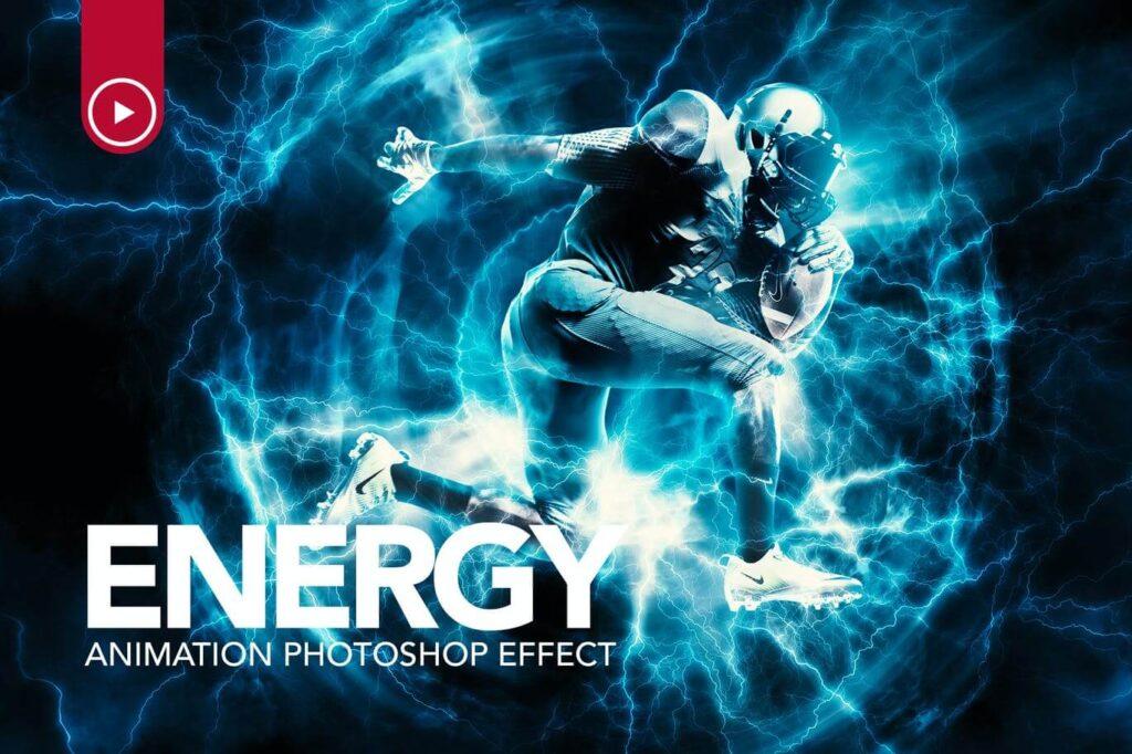 Energy Animation Photoshop Action (1)