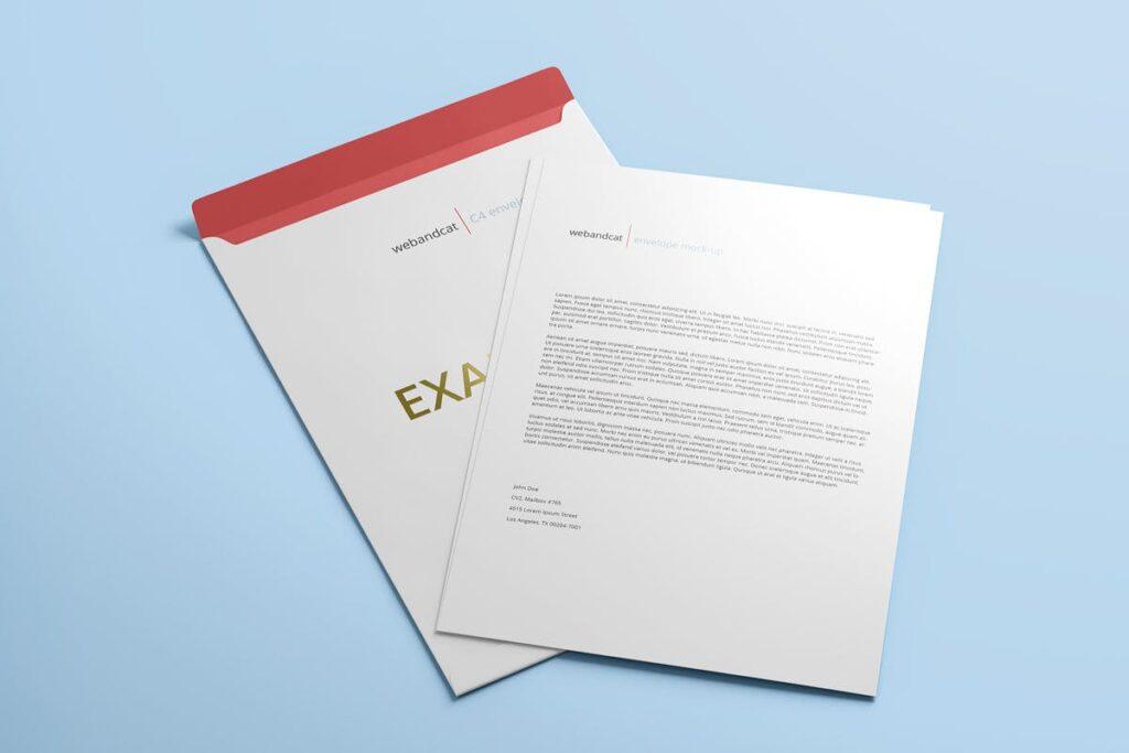 Envelope C4 Mock-Up (2)
