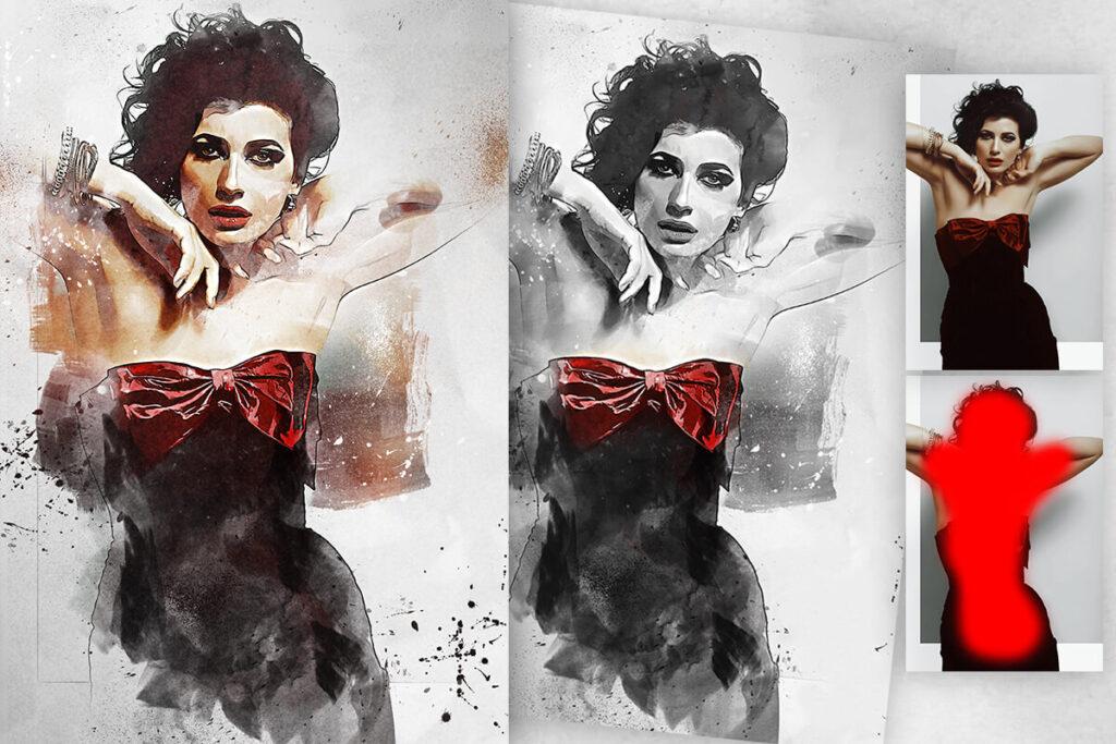 Fashion Sketch 3 Photoshop Action (1)