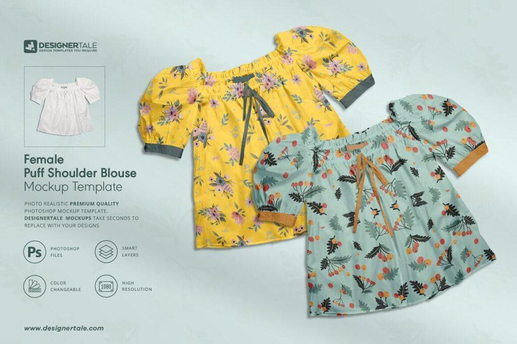 2 Types of Hoodie & Blouse Mock-up (1)