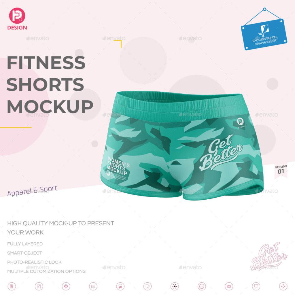 Fitness Shorts Mockup V1 (1)