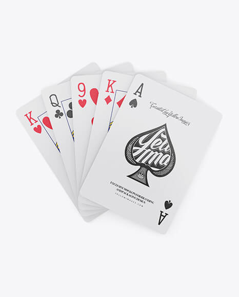 Five Playing Cards Mockup (1)