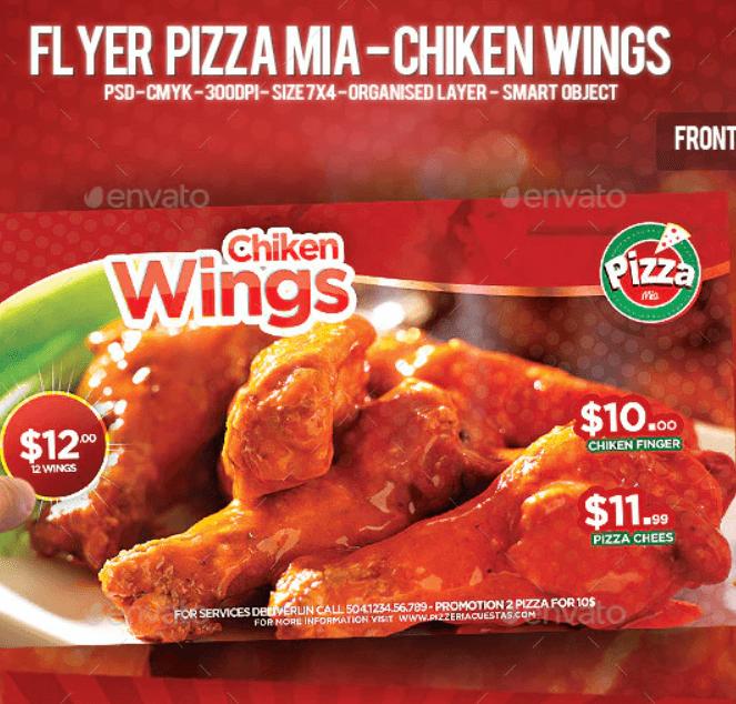 Flyer Pizza Mia - Chiken Wings