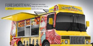 Food Truck Mock-Up. Unique 3D model mockup (1)