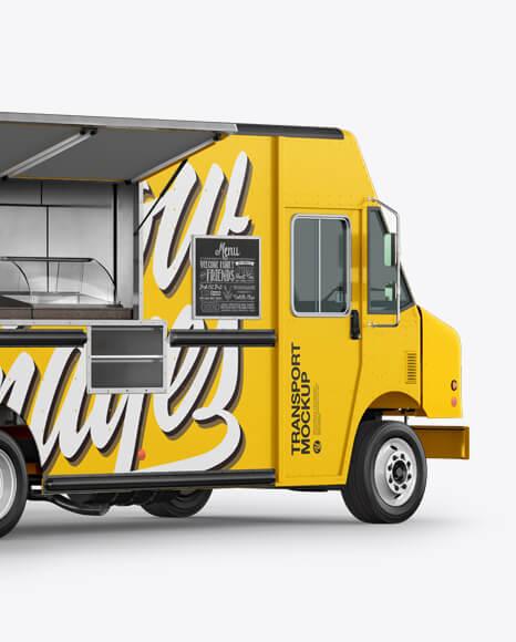 Food Truck Mockup - Back Half Side View (2)