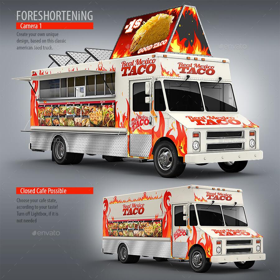 Food Truck, Taco Truck, Step Van Mock-Up (1)