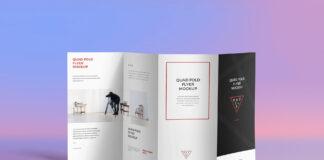 Free 4 Fold Brochure Mockup PSD Template (1)
