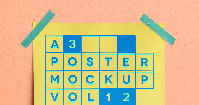 Free A3 Poster Mockup PSD Template (1)