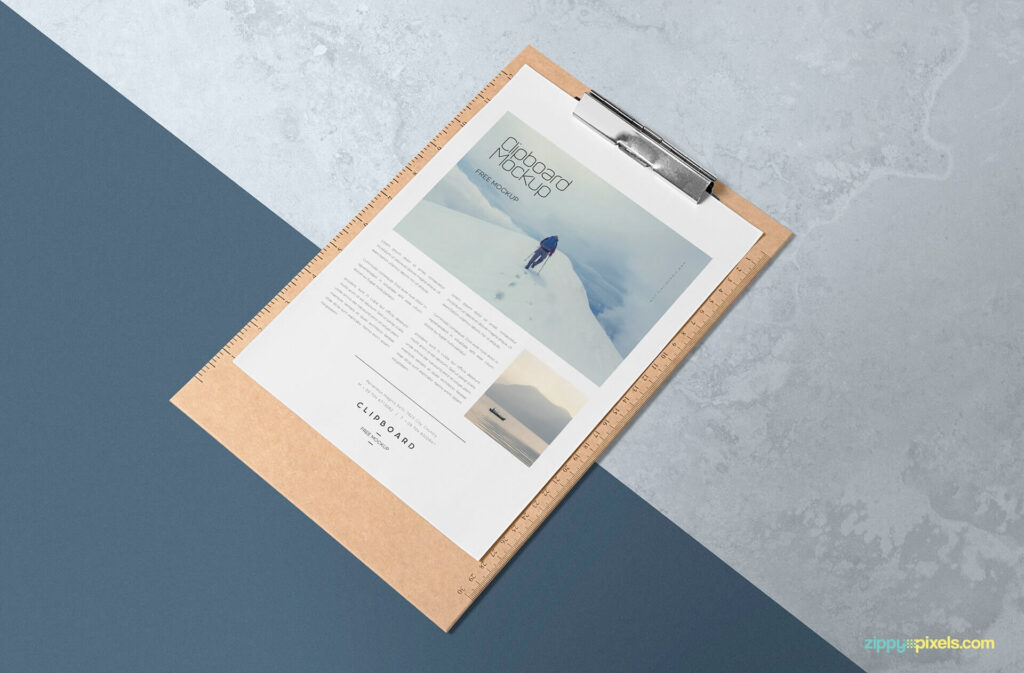 Free A4 Size Paper Mockup PSD Template (1)