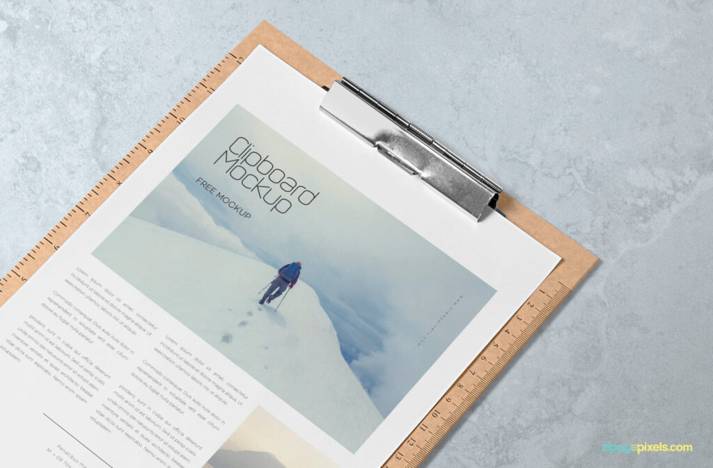 Free A4 Size Paper Mockup PSD Template3 (1)
