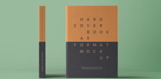 Free A5 Hardcover Book Mockup PSD Template (1)