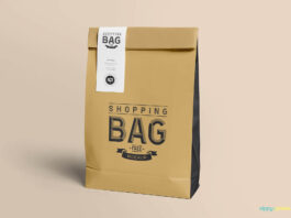Free Awesome Paper Bag Mockup PSD Template (1)