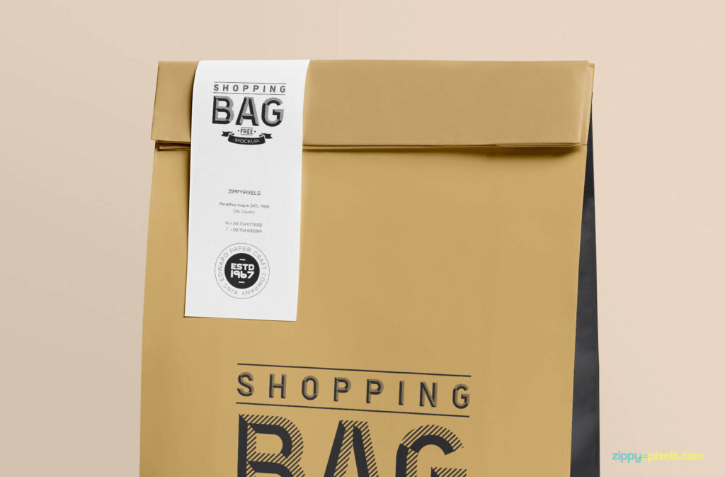 Free Awesome Paper Bag Mockup PSD Template2 (1)