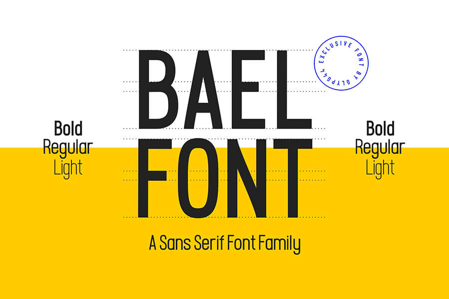 Free Bael Light Sans-Serif Font (1)