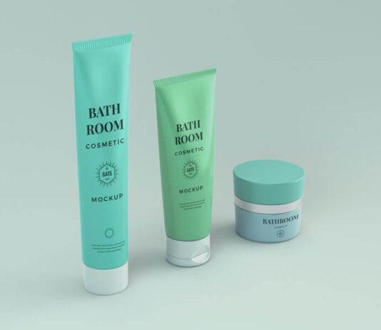 Free Bathroom Cosmetic Mockup PSD Template (1)