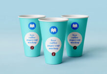 Free Blueish Paper Coffee Cup Mockup PSD Template (1)
