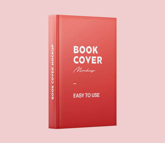 Free Book Spine And Cover Mockup PSD Template (1)