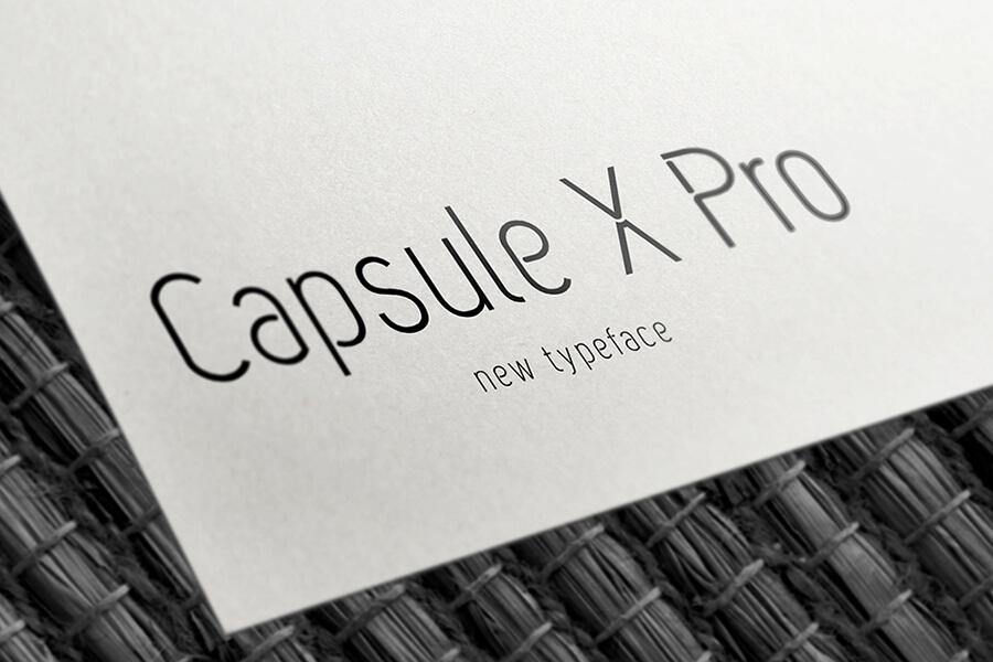 Free Capsule X Pro Font (1)