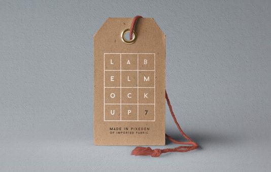 Free Cardboard Label Brand Mockup PSD Template (1)