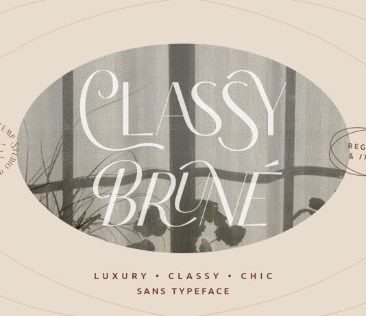 Free Classy Brune Sans Serif Typeface (1)