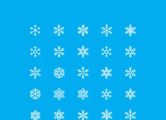 Free Cool Snowflakes Vector Icons (1)