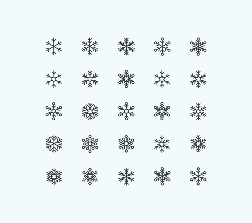 Free Cool Snowflakes Vector Icons1 (1)