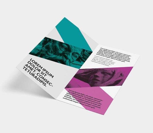 Free Designed Bi-fold DL Leaflet Mockup PSD Template (1)