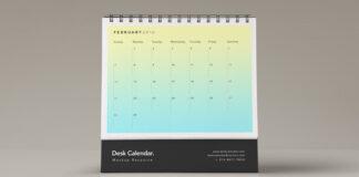 Free Desk Calendar Mockup PSD Template (1)