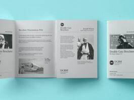 Free Double Gate Fold Brochure PSD Template (1)
