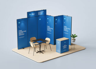 Free Exhibition Booth Mockup PSD Template (1)