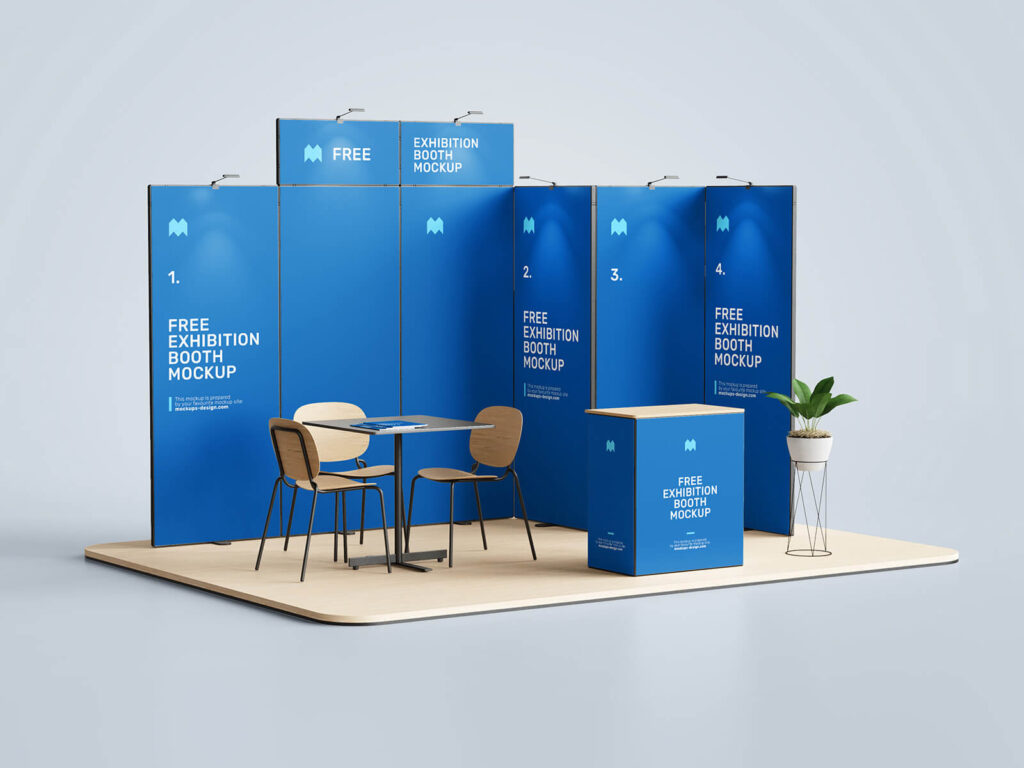 Free Exhibition Booth Mockup PSD Template1 (1)