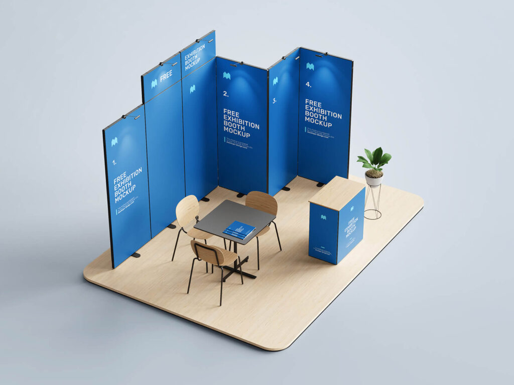 Free Exhibition Booth Mockup PSD Template2 (1)